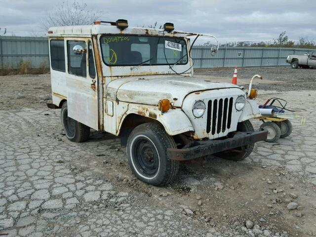 Outside front left side of car view - 1976 White Jeep Hard Top donated to Kars For Kids