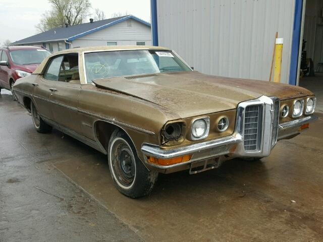 Outside front of car view - 1970 Brown Pontiac Grand Bonneville donated to Kars For Kids