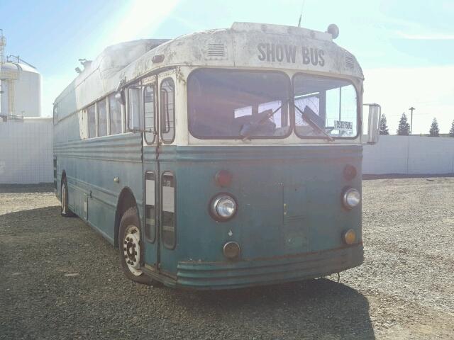 Outside back right side of bus view - 1950 Green Show Bus donated to Kars For Kids