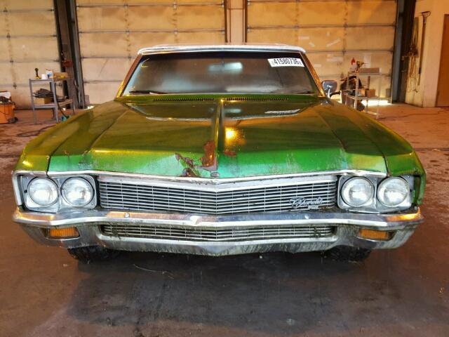 Outside front of car view - 1970 Green Chevy Impala donated to Kars For Kids