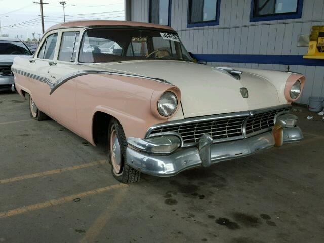 Outside front right side of car view - 1956 2 Tone Ford Fairlane donated to Kars For Kids