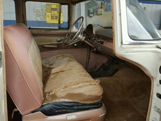 Inside front side of car view - 1956 2 Tone Ford Fairlane donated to Kars For Kids