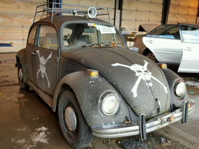 Outside front, right side of car view - 1970 Black Volkswagon Beetle donated to Kars For Kids