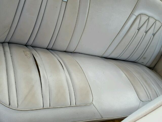 Inside back of car view - 1972 Green Plymouth Gran Fury donated to Kars For Kids