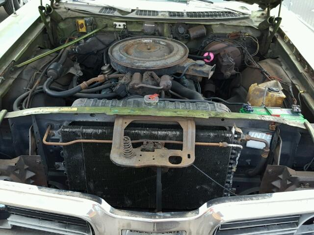 Engine view - 1972 Green Plymouth Gran Fury donated to Kars For Kids