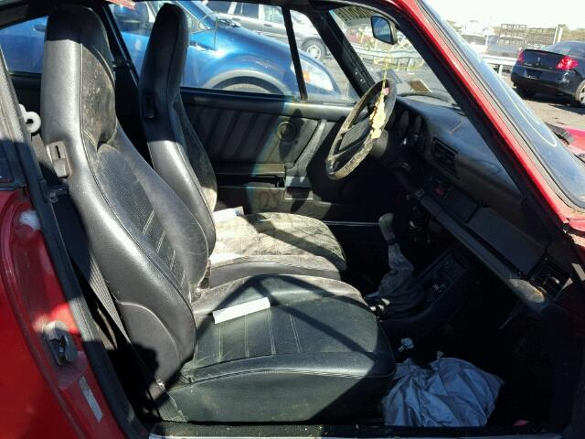 Inside front, side of car view - 1986 Red Porsche 911 Carrer donated to Kars For Kids