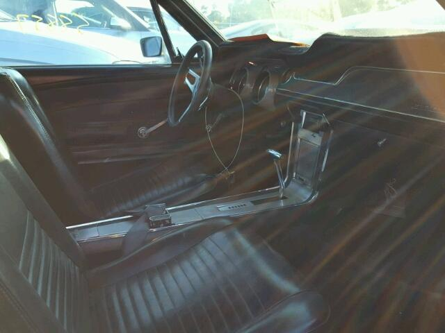Inside front, side of car view - 1967 Blue Ford Mustang donated to Kars For Kids