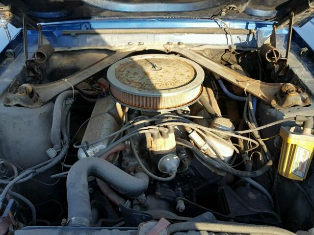 Engine view - 1967 Blue Ford Mustang donated to Kars For Kids