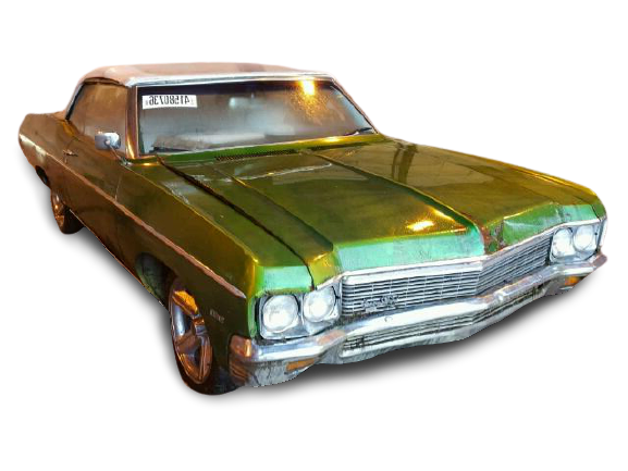 1970 Green Chevy Impala donated to Kars For Kids - front left view