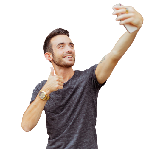 A man taking a selfie