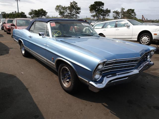 1967 Ford Galaxy Blue  - front right view