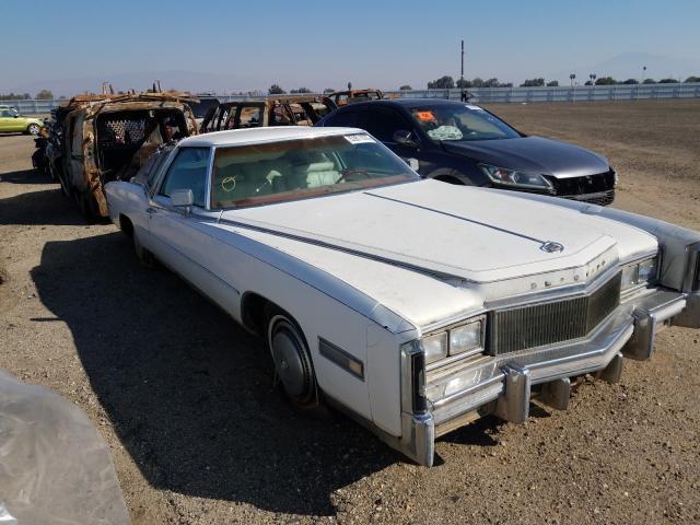 1977 Cadi Eldorado White -  Vin - front right view