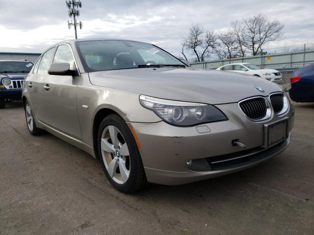 2008 Bmw 5 Series Beige  - front right view