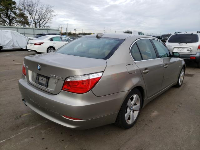 2008 Bmw 5 Series Beige  - rear right view