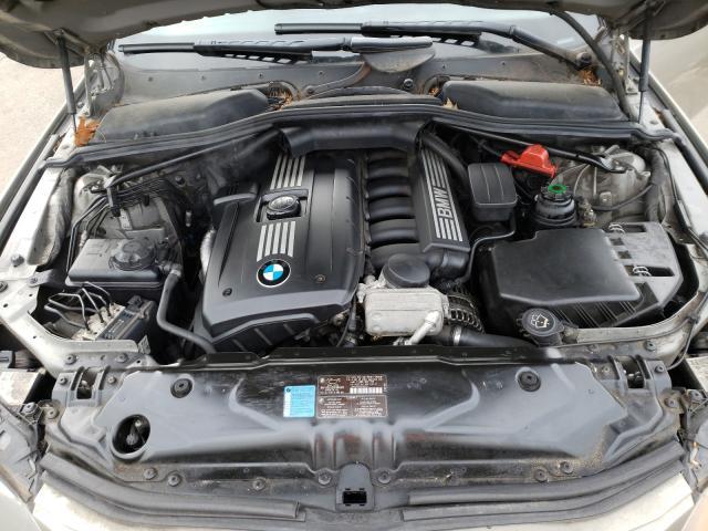 2008 Bmw 5 Series Beige  - engine
