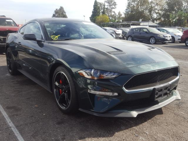 2019 Ford Mustang Bu Green  - front right view