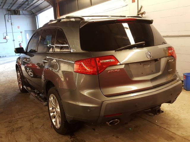 2008 Acur Mdx Gray  - rear left view