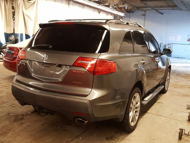 2008 Acur Mdx Gray  - rear right view