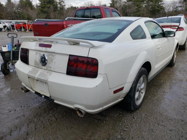 2006 Ford Mustang White  - rear right view