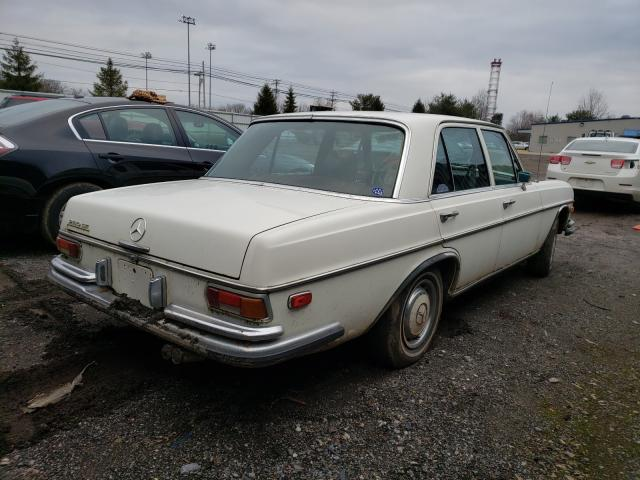 1971 Mercedes Benz B 250e White  - rear right view