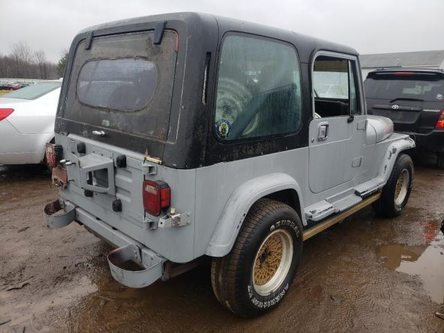 1987 Jeep Wrangler Gray  - rear right view