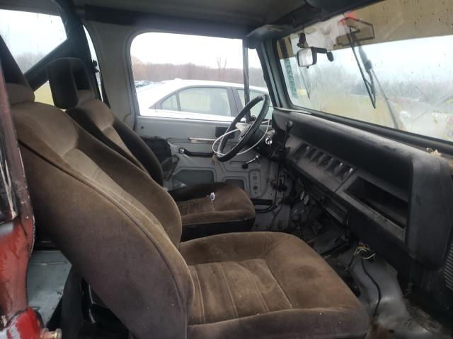 1987 Jeep Wrangler Gray  - interior - front