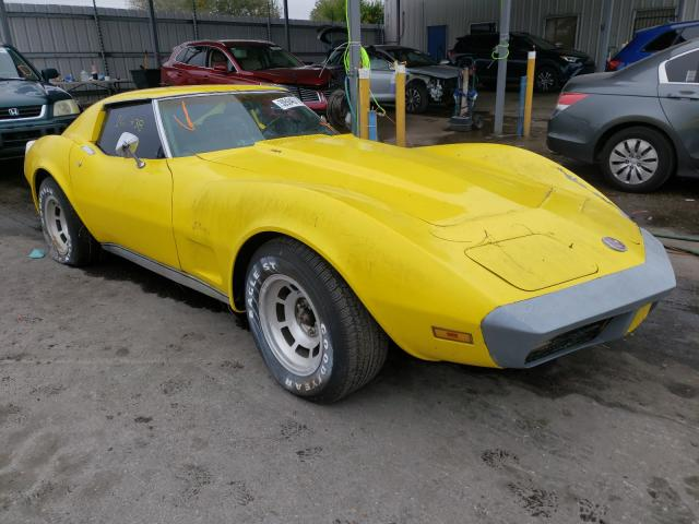 1974 Chevrolet Corvette Yellow  - front right view
