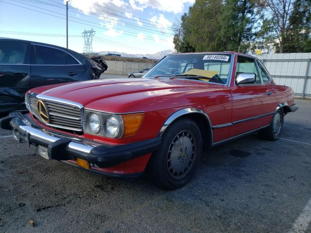 1986 Mercedes Benz 560 Sl Red  - front left view