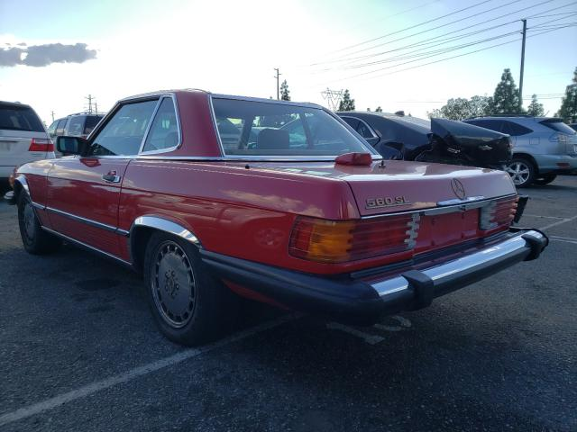 1986 Mercedes Benz 560 Sl Red  - rear left view