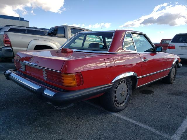 1986 Mercedes Benz 560 Sl Red  - rear right view