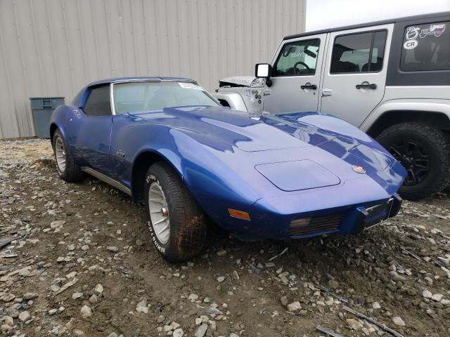 1975 Chevrolet Corvette Blue  - front right view