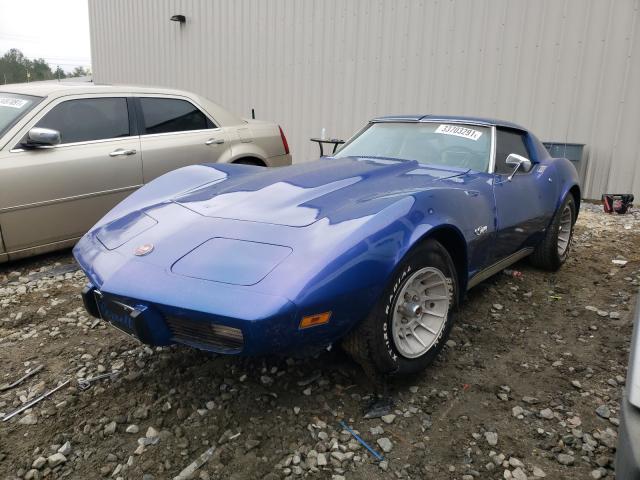 1975 Chevrolet Corvette Blue  - front left view