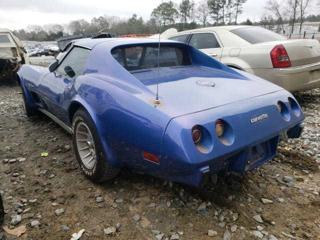1975 Chevrolet Corvette Blue  - rear left view