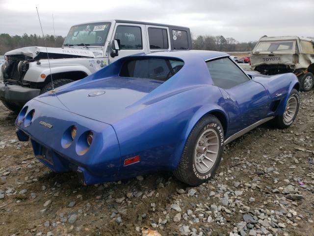 1975 Chevrolet Corvette Blue  - rear right view
