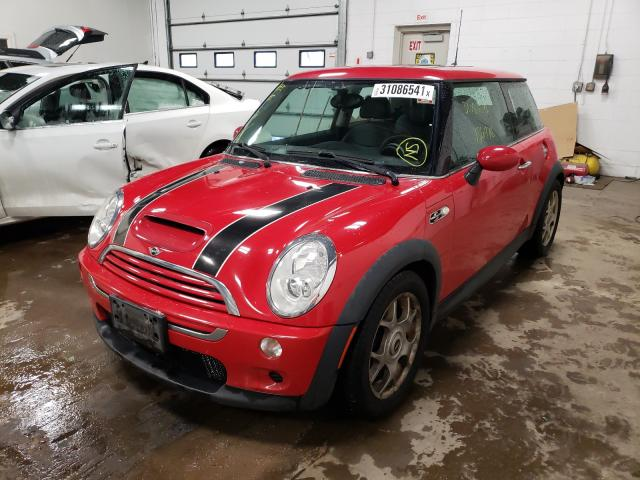 2005 Min Cooper S Red  - front left view