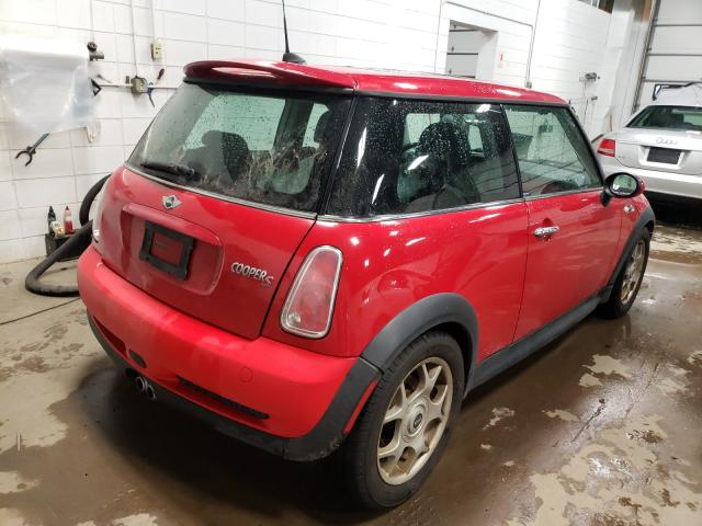 2005 Min Cooper S Red  - rear right view
