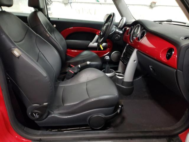 2005 Min Cooper S Red  - interior - front