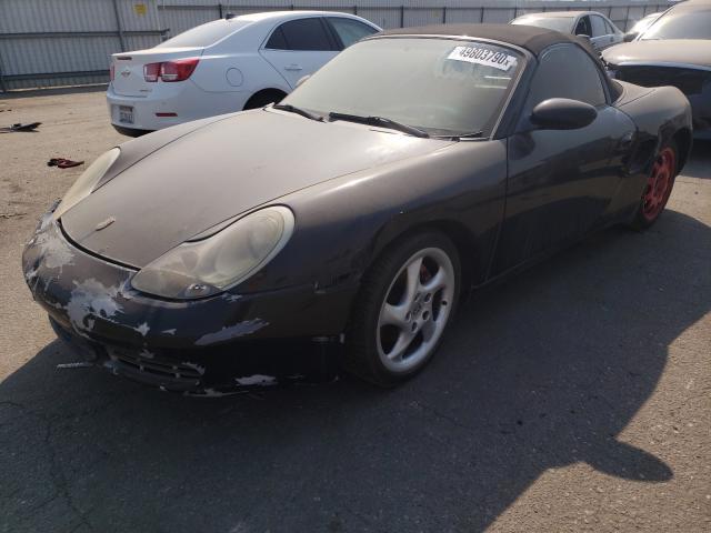 2002 Porsche Boxster S Black  - front left view