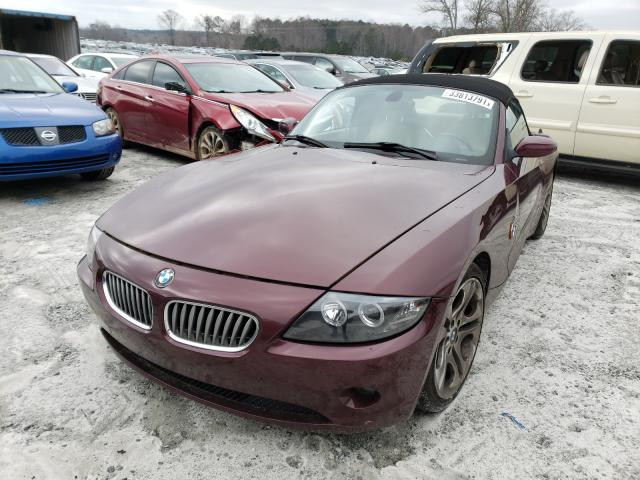 2004 Bmw Z4 Mroon  - front left view