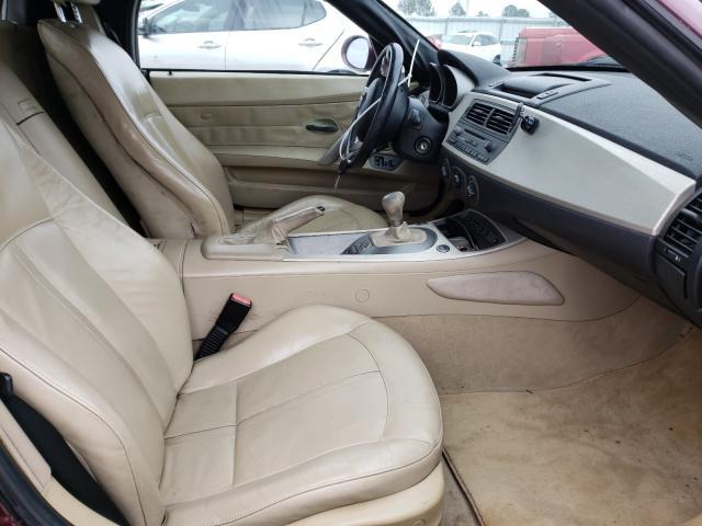 2004 Bmw Z4 Mroon  - interior - front