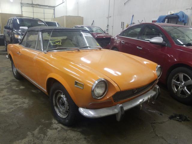 1971 Fiat Spider Orange  - front right view
