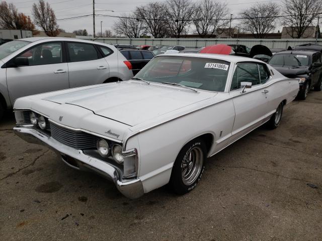 1968 Merc Monterey White  - front left view