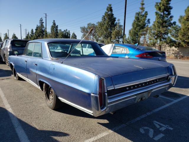 1964 Pontiac Bonneville Blue  - rear left view