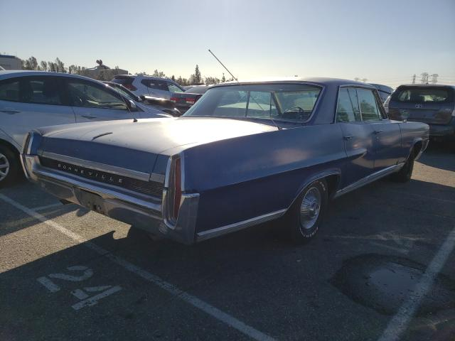 1964 Pontiac Bonneville Blue  - rear right view