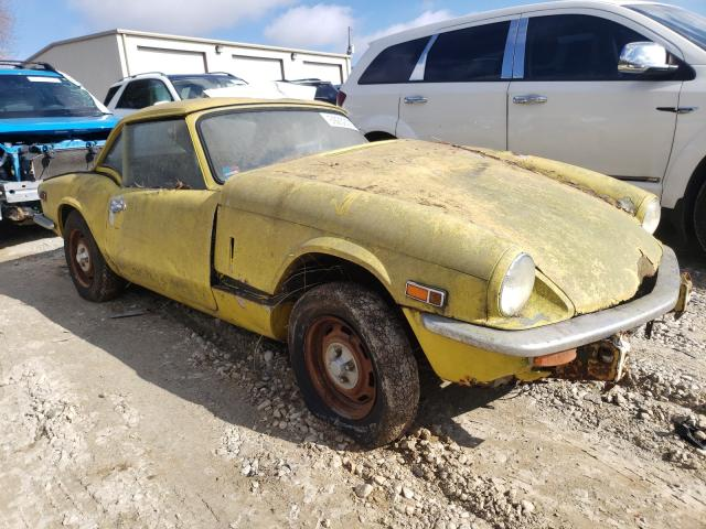 1976 Triumph Spitfire Yellow  - front right view
