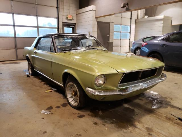 1968 Ford Mustang Green  - front right view