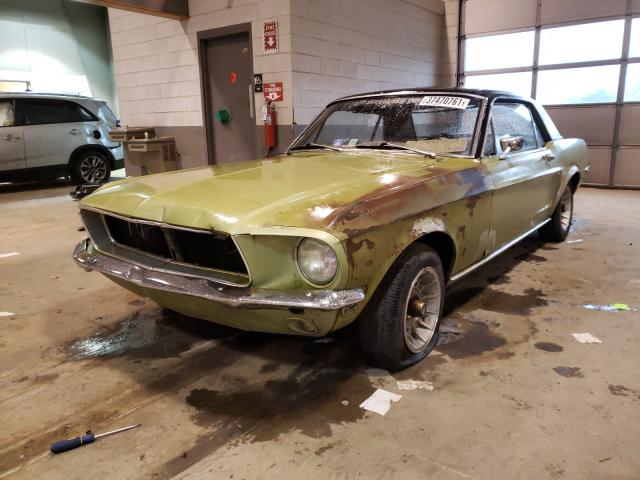 1968 Ford Mustang Green  - front left view