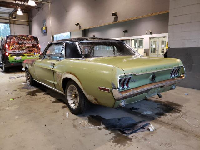 1968 Ford Mustang Green  - rear left view
