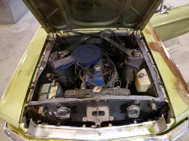 1968 Ford Mustang Green  - engine
