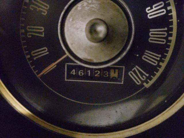1968 Ford Mustang Green  - odometer